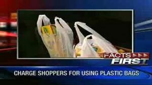 LA Bans Plastic Bags, Man Pays… Photo