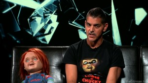 Chucky and Don Mancini on Inside Horror Photo