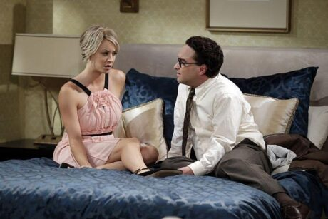 """""""The Matrimonial Momentum"""" -- After driving to Vegas to get married, Penny (Kaley Cuoco-Sweeting, left) struggles with Leonard's (Johnny Galecki, right) confession that he kissed another girl, on the ninth season premiere of THE BIG BANG THEORY, Monday, Sept. 21 (8:00-8:31 PM, ET/PT), on the CBS Television Network. Photo: Sonja Flemming/CBS ©2015 CBS Broadcasting, Inc. All Rights Reserved"""