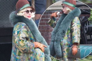 Mirror Photo - Lady Gaga on set