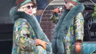 Mirror Photo - Lady Gaga on set