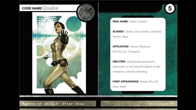 """Agents of S.H.I.E.L.D : Character Spotlight """"Quake"""""""