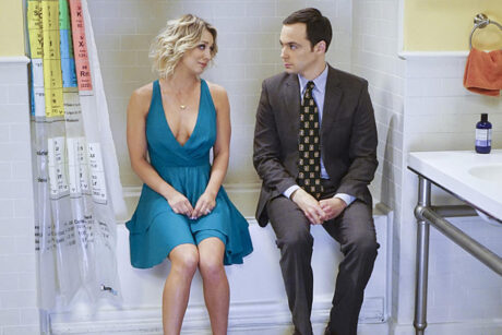 """The Celebration Experimentation"" -- After more than nine years together, the gang finally celebrates Sheldon's birthday, surprising him with a special guest, on the 200th episode of THE BIG BANG THEORY, Thursday, Feb. 25 (8:00-8:31 PM, ET/PT) on the CBS Television Network. Pictured left to right: Kaley Cuoco and Jim Parsons Photo: Monty Brinton/CBS ©2016 CBS Broadcasting, Inc. All Rights Reserved"