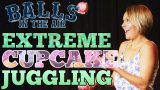 Juggling Cupcakes on Balls in the Air