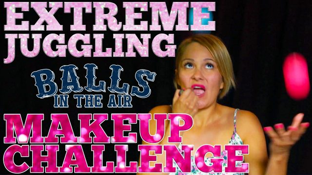 How to Apply Makeup while Juggling on Balls in the Air