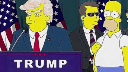 THE SIMPSONS Predict TRUMP'S VICTORY on theFeed!